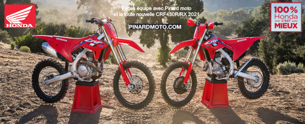 NOUVELLE HONDA CRF450R/RX 2021
